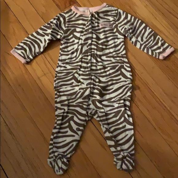 2T, Zebra Carters Little Girls 2-Piece Cotton /& Fleece PJs